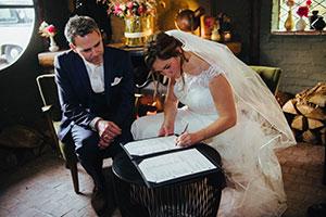 Bruiloft bij Huisje James